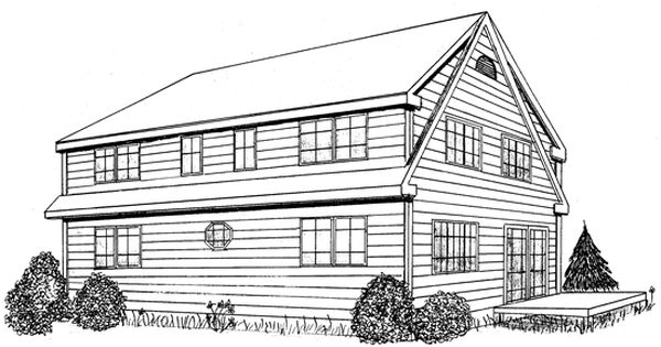 Shed dormer plans free timberframe cape house plan has for Shed dormer house plans