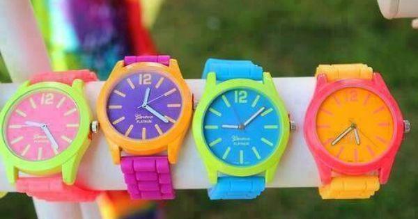 Neon Renkte Saat Takabilirsiniz Fashion Jewelry Accessories Accessories