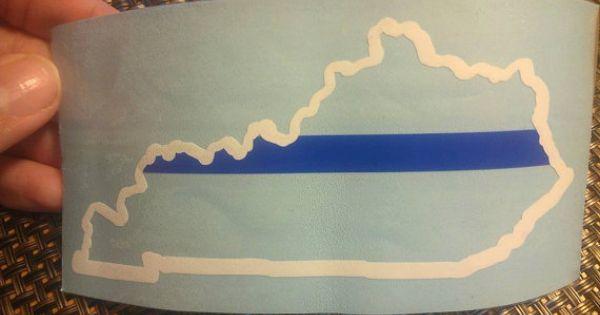 Kentucky thin blue line sticker thin blue lines kentucky and