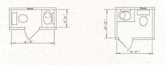 Specialty Structures Inc Small Half Bathrooms Tiny Powder Rooms Bathroom Floor Plans