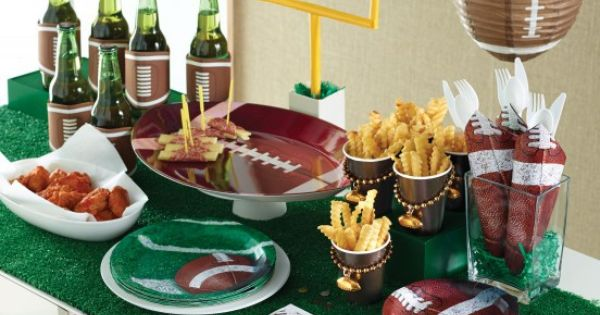 football superbowl party deko ideen mottoparty deko pinterest deko american football und. Black Bedroom Furniture Sets. Home Design Ideas