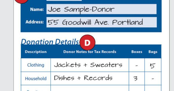 How to fill out a goodwill donation tax receipt goodwill for Is goodwill a non profit organization