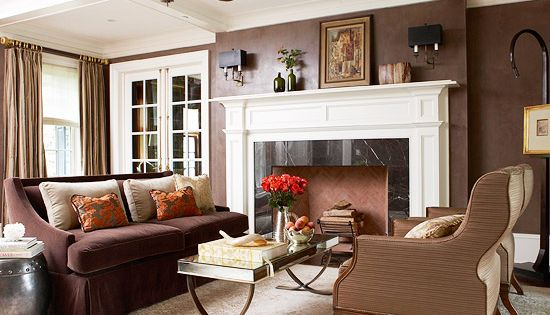 Make a statement with dark walls and bright white molding. In this