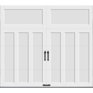Clopay Coachman Collection 8 Ft X 7 Ft 18 4 R Value Intellicore Insulated Solid White Garage Door Cxu13 Sw Top11 The Home Depot White Garage Doors Garage Door Design Garage Door Types