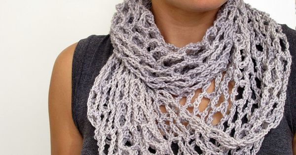Free Crochet Scarf Patterns To Download : Net Scarf by One Flew Over. Free Ravelry download. Could ...