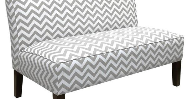 Zig Zag Armless Settee - Gray one bench for dining table?