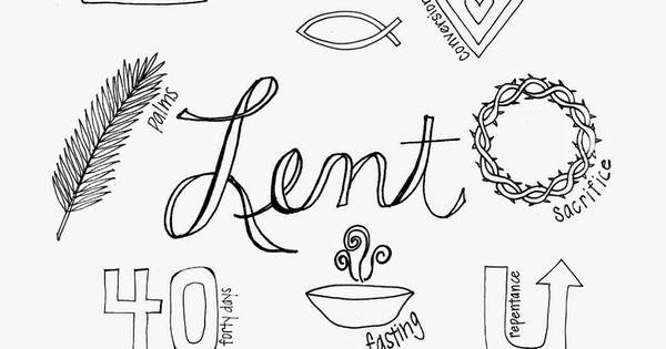lent colors and symbols