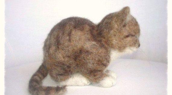 Ooak Needle Felted Kitten Filztiere Katzenbabys Und Kleine Katzen