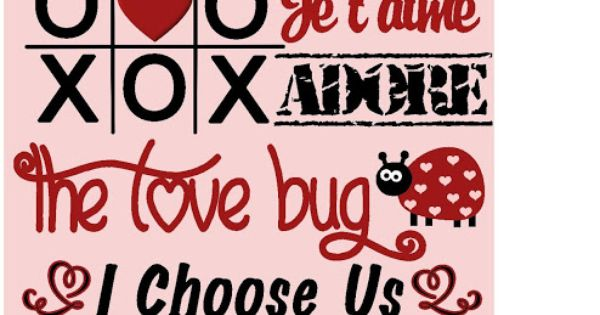 Pink Valentine Subway Art Printable