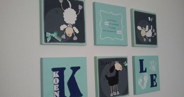 Nusery decoration babykamer schilderijtjes canvas stof schilderijtjes pinterest - Babykamer schilderij idee ...
