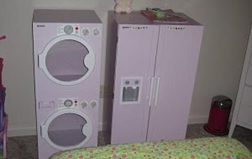 diy play time furniture how to the washer dryer thing for dirty close would be cute for little. Black Bedroom Furniture Sets. Home Design Ideas