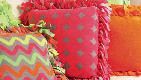 Super Cute Neon No Sew Fleece Pillows Find Directions