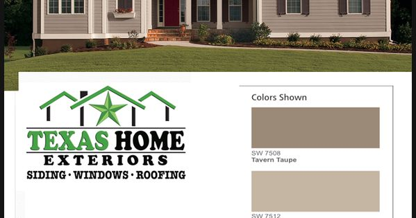 Sherwin Williams Exterior House Color Sw 7508 Tavern Taupe Sw 7512 Pavillion Beige Sw 7515