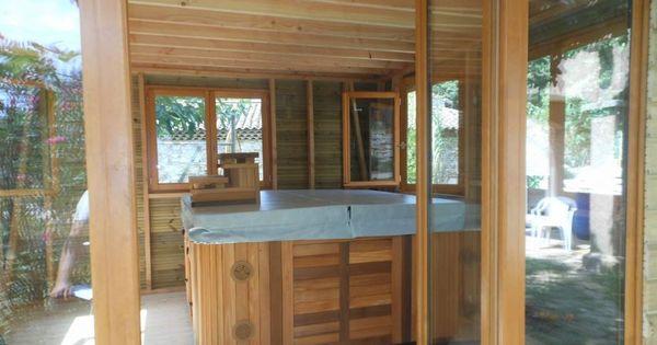 abri kazebo pour spa en ossature bois sur mont limar en dr me pool house pinterest. Black Bedroom Furniture Sets. Home Design Ideas