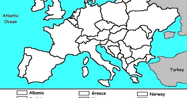 europe continent coloring pages - photo#10