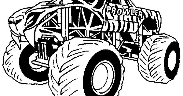 Prowler Monster Truck Kids Coloring Pages Pinterest