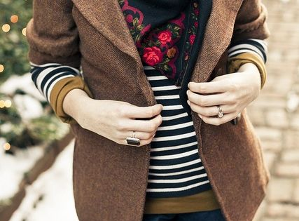 love the jacket, stripes and scarves