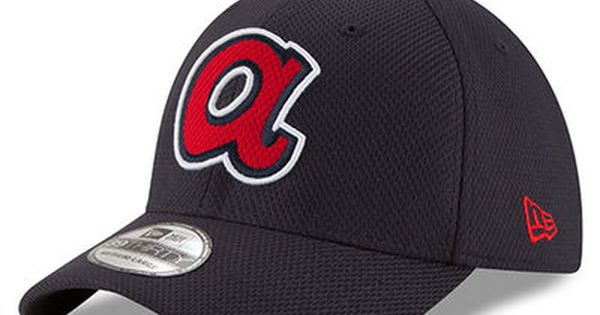 online store 9ba2b af9dd Men s New Era Navy Atlanta Braves Diamond Era 39THIRTY Flex Hat   Rock n  the Braves!   Pinterest
