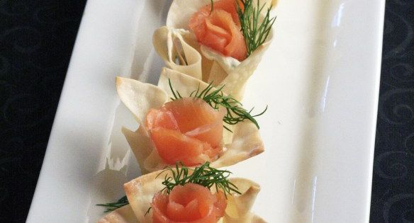 Wonton cups, Wontons and Smoked salmon on Pinterest