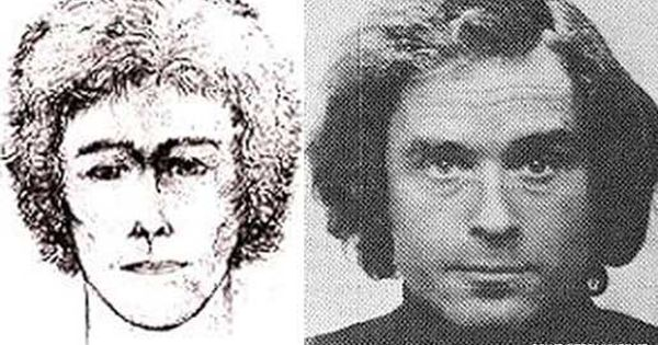 A Police Sketch Of Ted Bundy As Described By Women At Lake