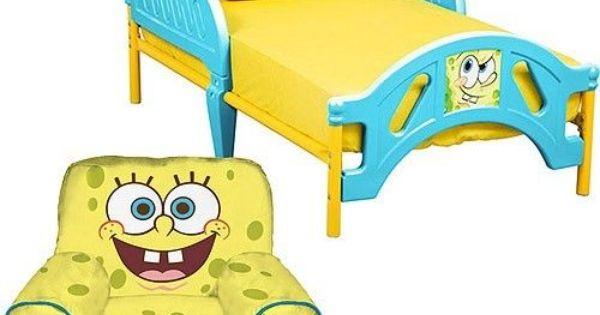 Spongebob Squarepants Toddler Bed Amp Bean Bag Chair Bundle