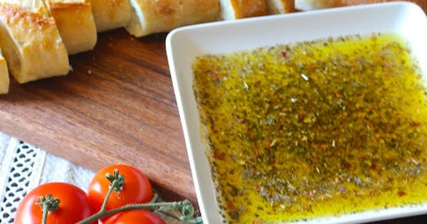 Tuscan Dipping Oil Recipe ~ also yummy if you grate some fresh