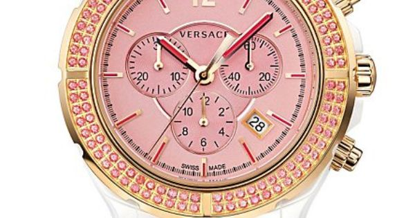 The Versace DV one cruise Watch in pink. VersaceWatches Versace