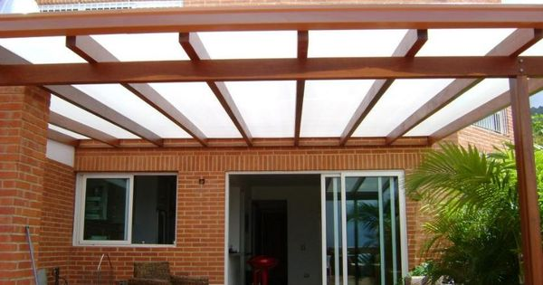 estructura en madera y lamina de home pinterest pergolas patios and porch