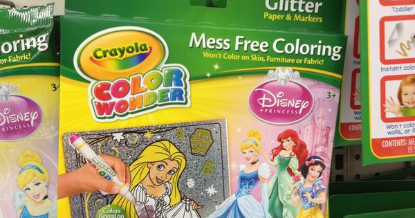 Disney Princess Mess Free Coloring Book with Coloring