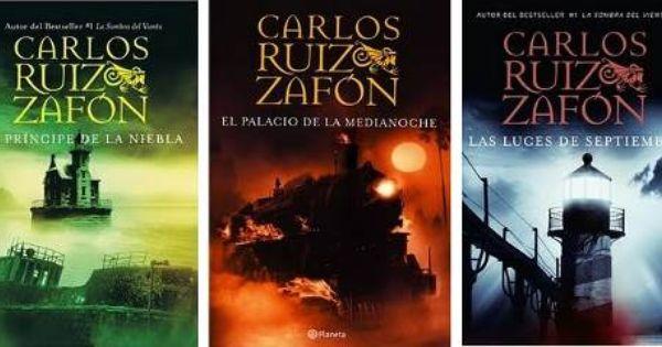 La Trilogía De La Niebla Compuesta Por El Príncipe De La Niebla El Palacio De Media Noche Y Las Luces De Sept Carlos Ruiz Zafon Libros Libros Carlos Ruiz