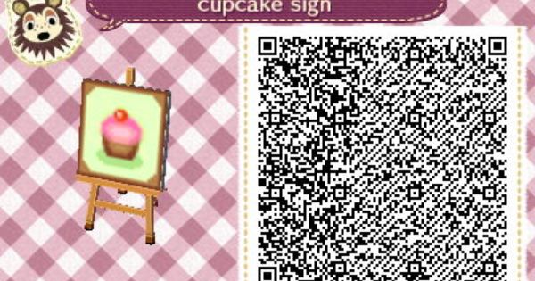 cupcake sign by quirkberry animal crossing new leaf