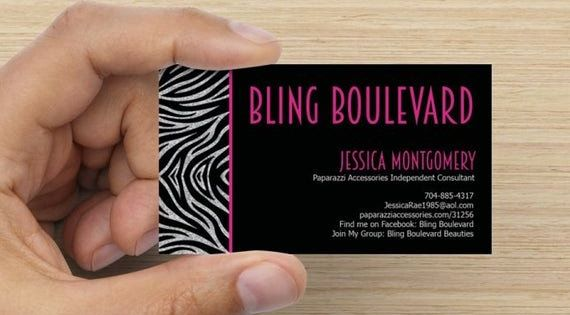 Paparazzi Business Card Template Best Of Items Similar To Sparkle Zebra Print Paparazzi Accessories Card Template Printable Cards Business Card Template