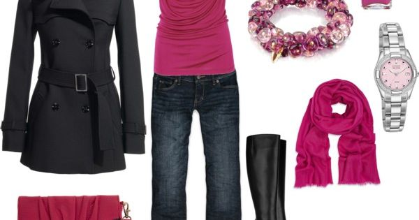 pink pink pink love it, I love the shirt, coat, purse and