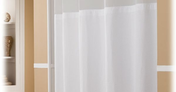Hookless Polyester Shower Curtains National Hospitality Hotel