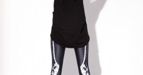 X-ray action. BLACK MILK 'leg bones' leggings.