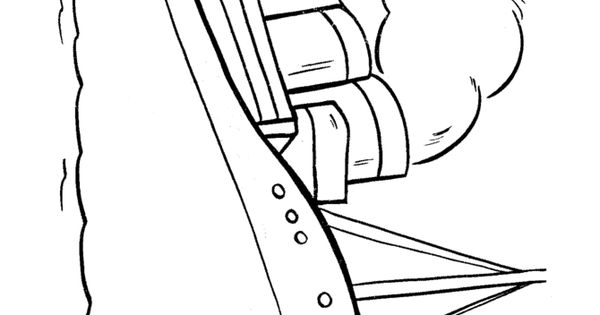 coloring pages of boats and ships
