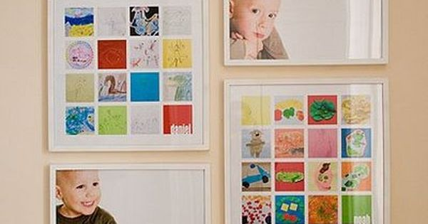 displaying kids' artwork - plus Over 50 Organizational Tips for Kids' Spaces
