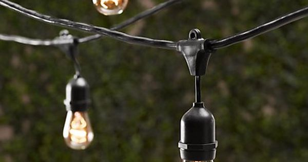 Vintage Light String, patio lighting
