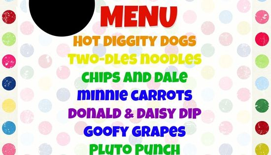 mickey mouse birthday food ideas | on the list of homemade mickey