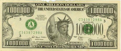 1 Million Dollars One Million Dollar Bill One Million Dollars 1000 Dollar Bill