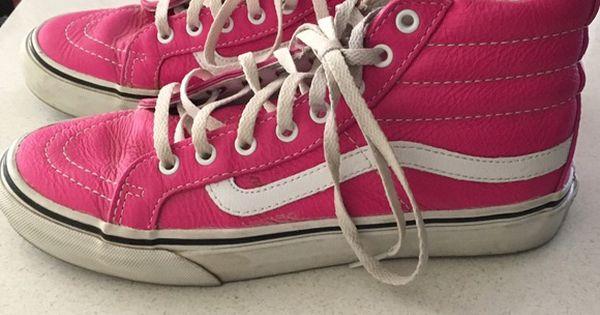 c9f56ba0b6c189 Women s pink leather vans sk8 hi