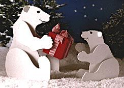 Polar Bears Large Format Paper Woodworking Plan From Wood Magazine Woodworking Plans Patterns Woodworking Patterns Christmas Yard Art