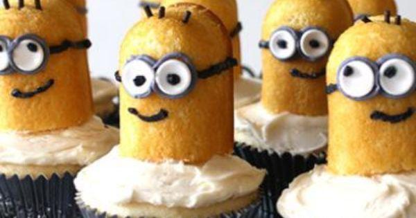 Birthday Party Ideas Despicable Me Minion Cupcakes