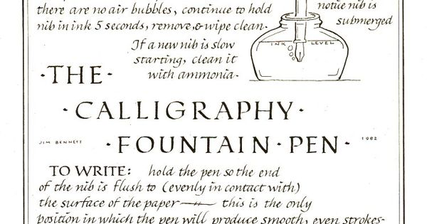 The Calligraphy Fountain Pen Vintage Letters And