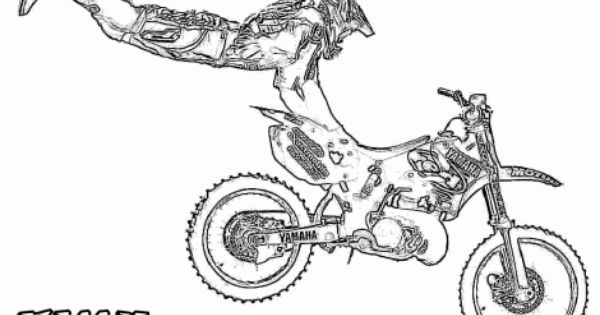 Dirtbike Print Outs Motocross Coloring Page Practical Scrappers Coloring Pages Print Color