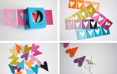 Paint Chip Heart Garland- I might be annoyed if I worked at