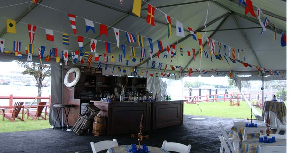 Nautical flags decor lighthouse party theme pinterest