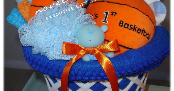 Baby Gift Baskets Las Vegas : Custom basketball baby gift basket novel designs