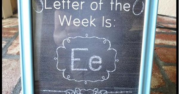 Letter Number Of The Week Printable Signs Teaching The