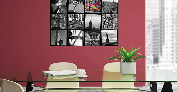 New York City Poster Collage Of Black And White